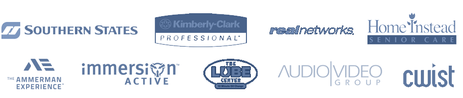 We have worked with... Immersion Active | Ammerman | Audio Video Group | Ammerman Experience | The Lube Center | Kimberly Clark Professional